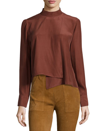 Le Asymmetric Long-Sleeve Shirt, Andorra
