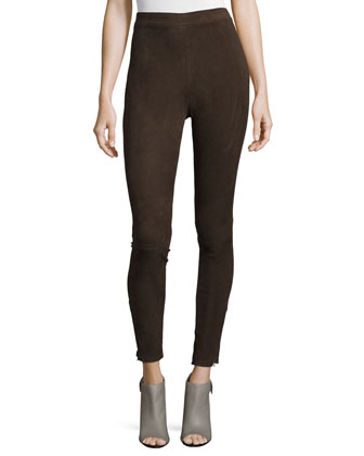 Le Suede Leggings, Chocolate Brown