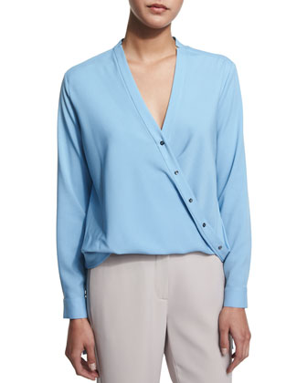 Wrap Blouse with Shirttail