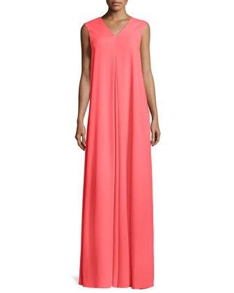V-Neck Maxi Dress, Tangier