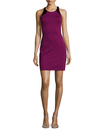 Sleeveless Cocktail Dress W/Cutouts, Boysenberry