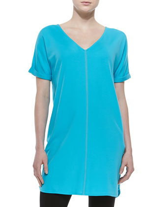 Long Cotton Interlock Tunic