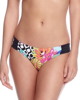 Balboa Floral-Print Halter Swim Top, Hipster Swim Bottom & Printed ...