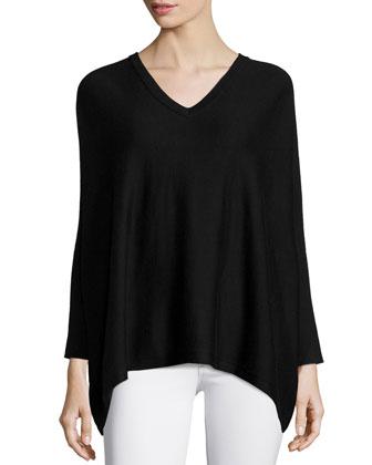 Silk/Cashmere V Neck Sweater