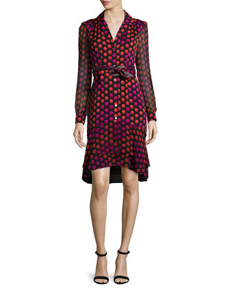 Catherine Two Giraffe Daze Dot Shirtdress