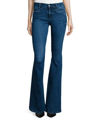 Marrakech Flare-Leg Jeans, Mica