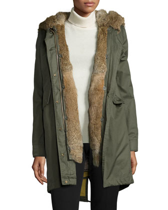 Literary Walk Fur-Lined Hooded Parka