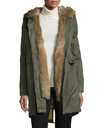 Literary Walk Fur-Lined Hooded Parka