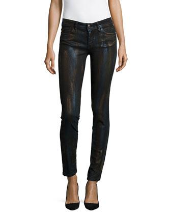 Metallic Coated Skinny Jeans