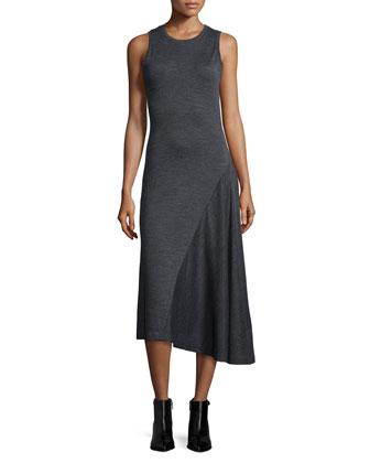 Sleeveless Asymmetric Jersey Dress