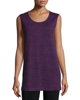 Sleeveless Brushed Sweater-Knit Tank, Women's