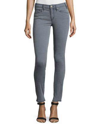 Newton Mid-Rise Skinny Jeans, Islington (Gray)