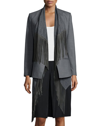Two-Way Jacket with Detachable Fringe Vest
