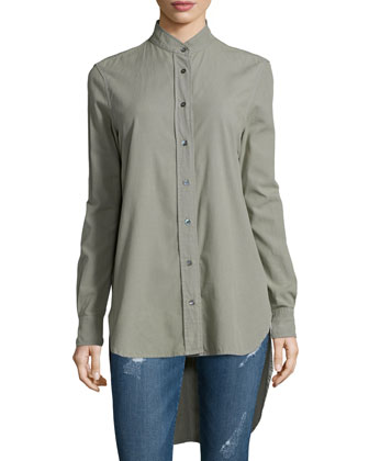 Le Tunic Cotton Shirt, Military