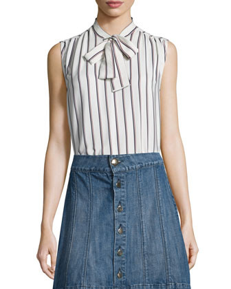 Le Classic Pleat Shirt, White Pattern