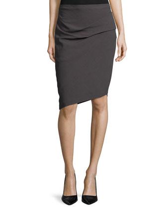 Asymmetric Pencil Skirt, Lead