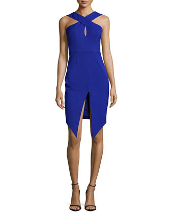 Tainted Romance Sleeveless Dress, Cobalt