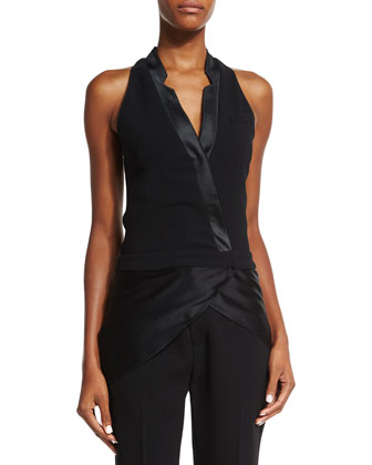 Tuxedo Petal Vest, Black