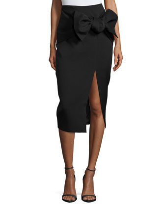 Little Love Pencil Skirt W/Bow, Black