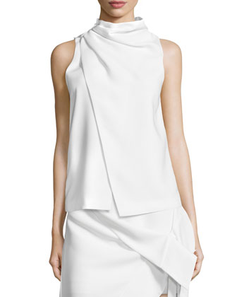 Fading Hearts Sleeveless Top, Ivory