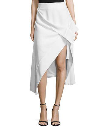 Don't Wait Asymmetric Skirt, Ivory