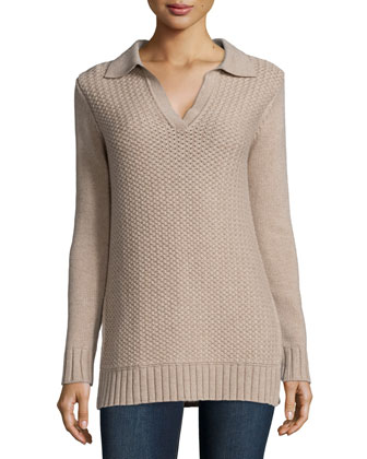 Long-Sleeve Henley Tunic