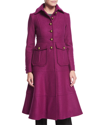 A-Line Long Wool Coat