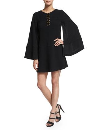 Long-Sleeve Cape Dress