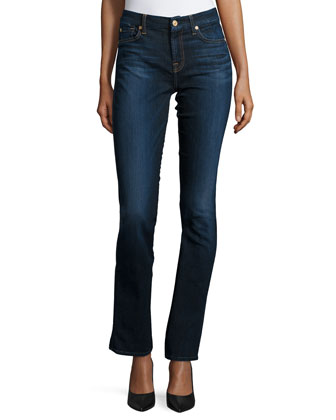 Kimmie Straight Slim Illusion Jeans, Tried & True Blue