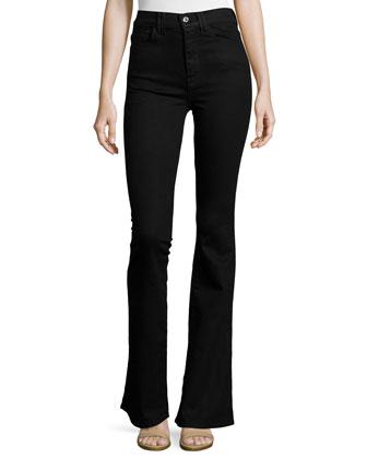 Fashion Flare High-Waist Jeans, Overdye Black