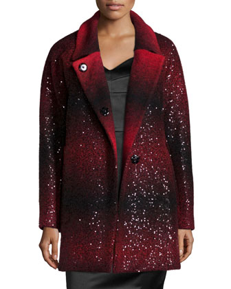 Eldridge Sequined Wool Coat