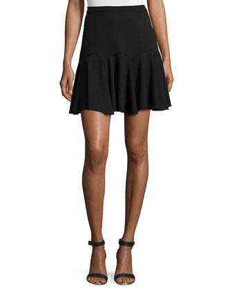 Fit-&-Flare Skirt, Black