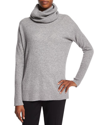 Ahiga Slim 2 Cashmere Sweater, Heather Gray