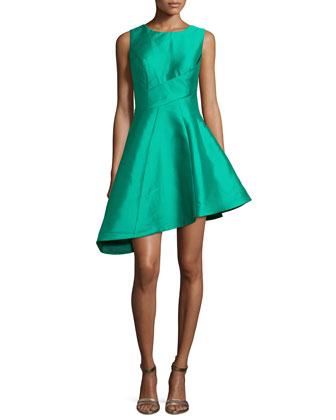 Sleeveless Asymmetric Cocktail Dress