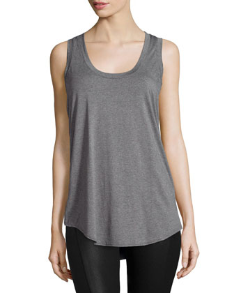 Scoop-Neck Long Jersey Tank