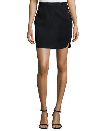 Fitted Mini Skirt, Black