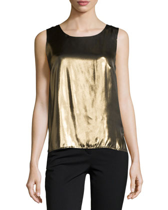 Crepe de Chine Shell, Gold