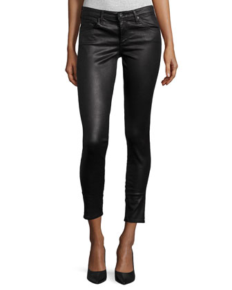 Legging Ankle Leatherette Light - Black