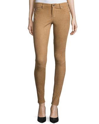 The Suede Full-Length Legging, Camel