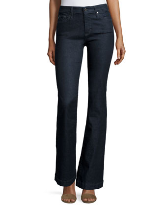 Janis High-Waist Cropped Flare Jeans, Society