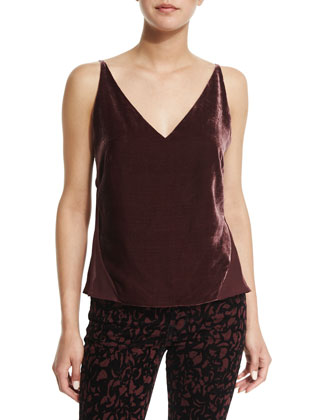 Lucy V-Neck Camisole, Deep Mulberry