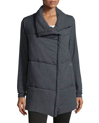 Delano Cotton-Blend Asymmetric Zip-Front Jacket