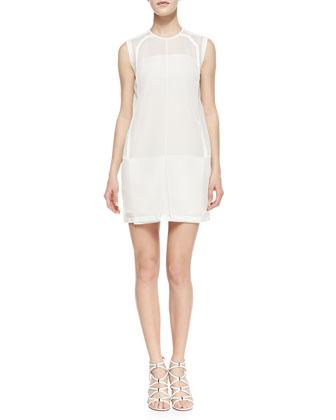 Sleeveless Mesh Tunic Dress