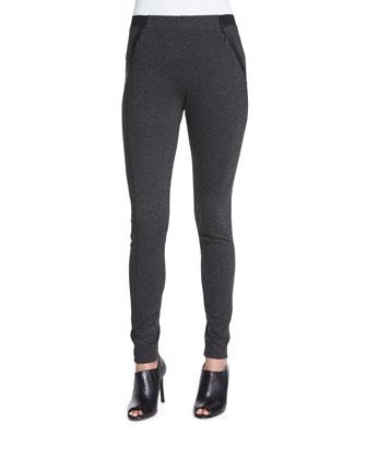 Trina Seamed Formfitting Pants W/ Zippers
