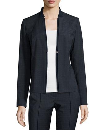 Ava Plaid Suiting Jacket & Karis Slim-Leg Plaid Pants