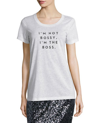 I'm Not Bossy Tee & Stretch Sequined Midi Skirt