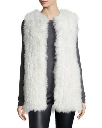 Carrie Mongolian Fur Vest