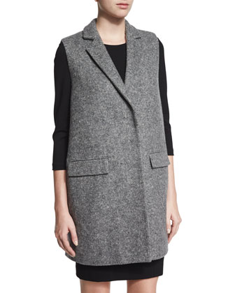 Sleeveless Tweed Jacket