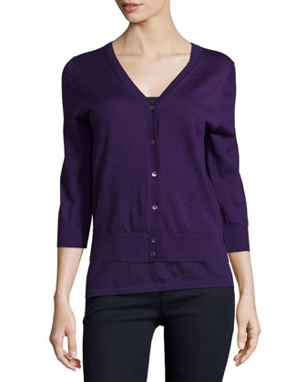 Modern Cashmere Superfine V-Neck Cardigan