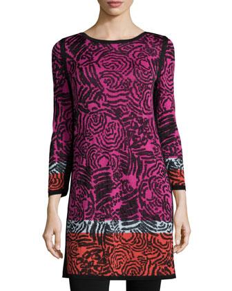 Starflower-Print Tunic